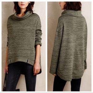 Saturday Sunday Anthro Green Marl Oversize Sweater